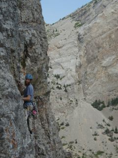 Climbing in Blackleaf Canyon, MT